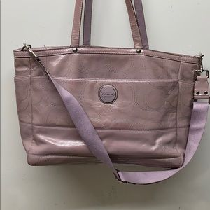 Coach Multipurpose Large Tote Diaper Bag Lavender